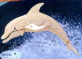 Medium Woodcraft Dolphin Puzzle