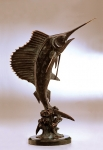 "Fighting ""Trophy"" Sailfish Sculpture"