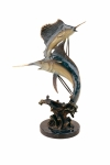 Imperial Keys Double Marlin & Sailfish Sculpture