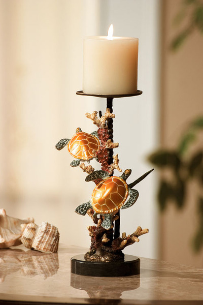 Sea Turtle Pillar Candle Holder
