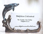 Fine Art Loving Dolphin Business Card Holder