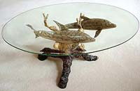 Fine Art Imperial Finish Dolphin Cocktail Table