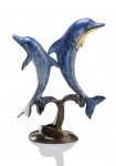 Double Jumping Dolphins Sculpture