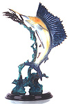 Hot Patina Finish Sailfish Statue