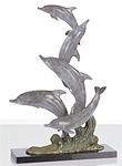 """Dancing Dolphins"" Sculpture"