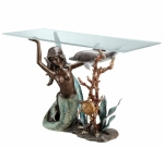 """Limited Edition"" Mermaid & Dolphin Sofa Table"