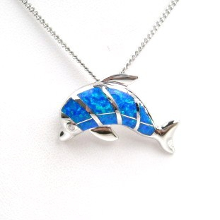 Diving Dolphin Pendant