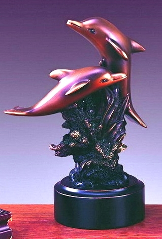 Loving  Dolphins Sculpture