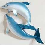 "18 inch ""Loving Dolphins Wall Sculpture"""