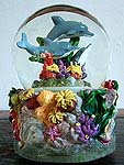 Rotating Dolphin Musical Water Globe