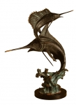 Two Bills Marlin & Sailfish Statue