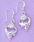 Kissing Dolphin Earrings